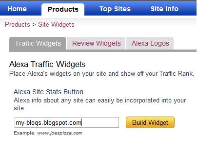 Gambar 1.1 – Alexa Traffic Widgets
